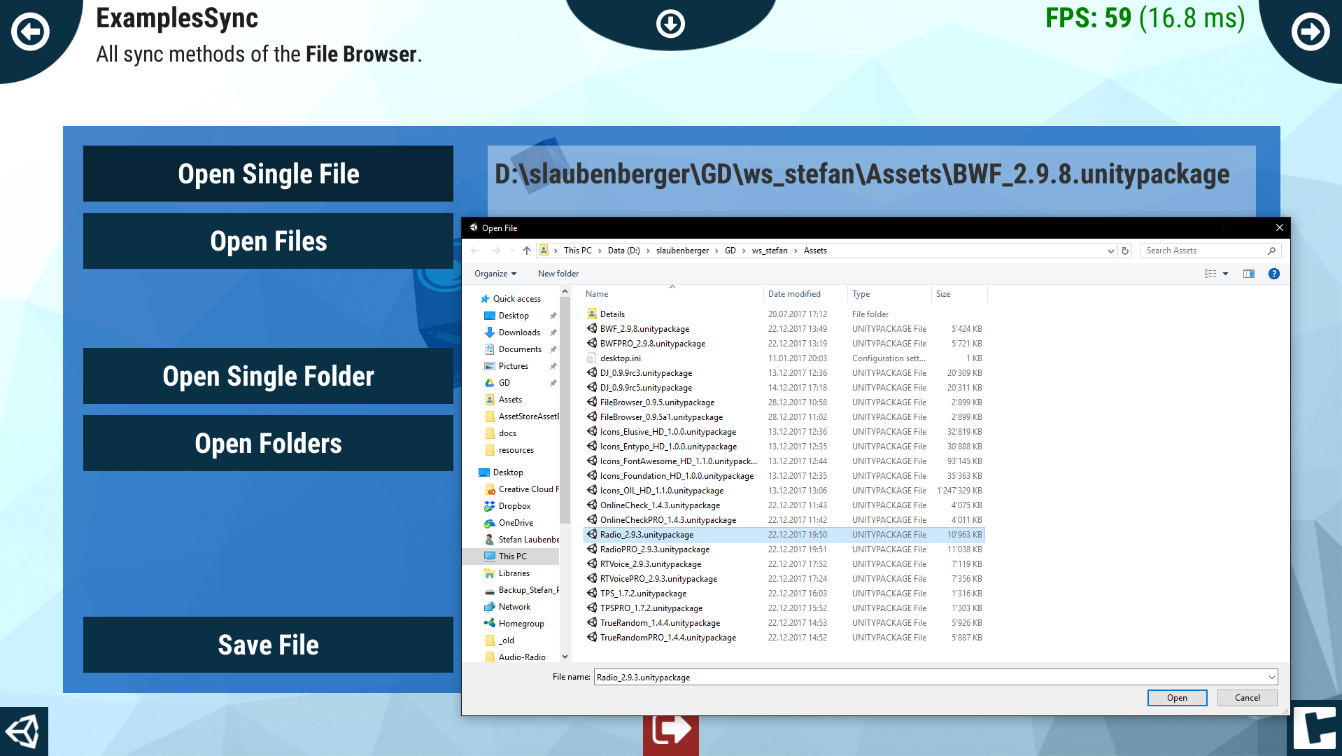 File Browser - Assets | Products | crosstales
